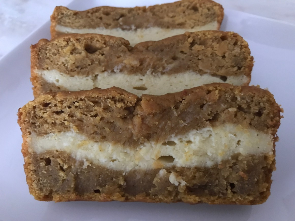 Pumpkin Cream Cheese Swirl Bread Slices