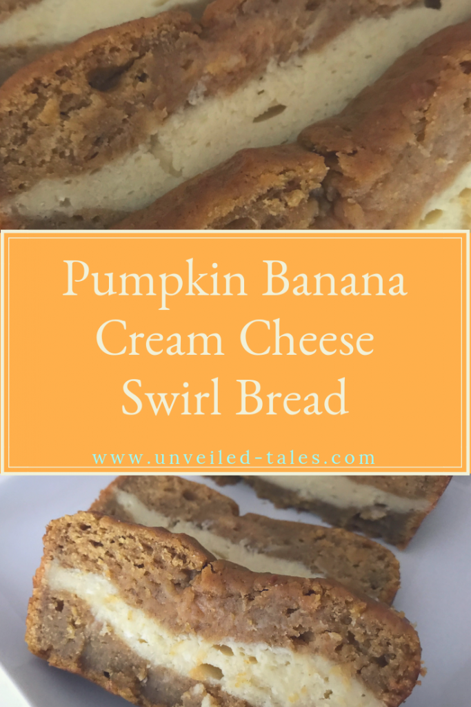 Pumpkin Banana Cream Cheese  Bread Pin